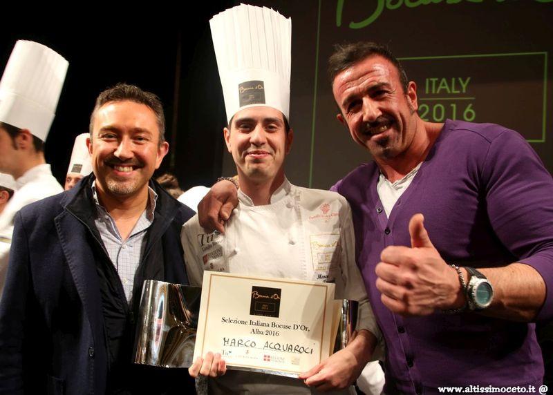Marco Acquaroli vince le selezioni italiane del Bocuse d'Or 2016