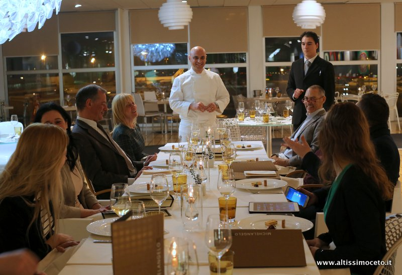 Cartoline dal 440mo Meeting VG @ Michelangelo Restaurant Cena – Aeroporto di Milano Linate (Mi) – Executive Chef Michelangelo Citino, Chef Fabio Aceti