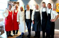 Cena a sei mani @ Michelangelo Restaurant - Aeroporto di Milano Linate - Lo Chef resident Michelangelo Citino ospita Sergio Motta e Damiano Nigro