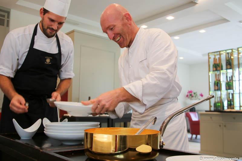 Cartoline dal 592mo Meeting VG @ Locanda Margon - Trento - Patron Fam. Lunelli, Chef Alfio Ghezzi
