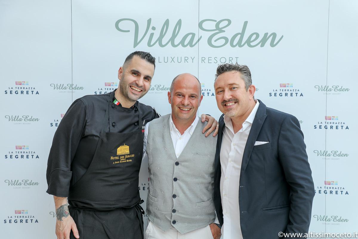 Cena a 4 Mani @Ristorante La Terrazza Segreta del Villa Eden Luxury Resort - Gardone Riviera (BS) - Resident chef Peter Oberrauch, Guest chef Massimiliano Sena