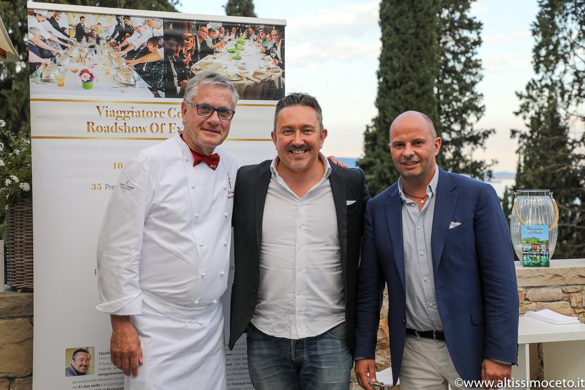 Cena a 4 Mani @Ristorante La Terrazza Segreta del Villa Eden Luxury Resort – Gardone Riviera (BS) – Resident chef Peter Oberrauch, Guest chef Bernard Fournier