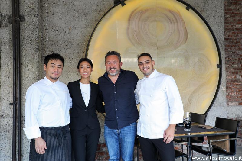 Gong - Milano - Patron Giulia Liu, Chef Guglielmo Paolucci e Keisuke Koga