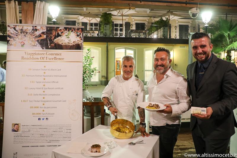 Cartoline dal 820mo Meeting VG @ Gazebo Restaurant del Grand Hotel Alassio – Alassio (SV) – GM Davide Crema, Chef Roberto Balgisi