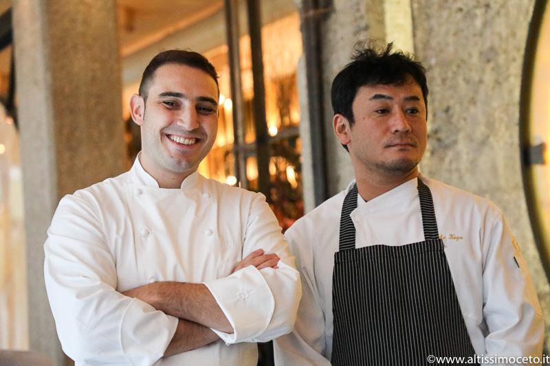 Cartoline dal 840mo Meeting VG @ Gong – Milano – Patron Giulia Liu, Chef Guglielmo Paolucci e Keisuke Koga