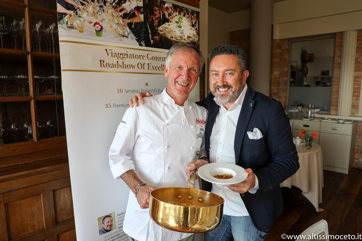Cartoline dal 836mo Meeting VG @ La Ciau del Tornavento – Treiso (CN) – Chef/Patron Maurilio Garola, Patron Nadia Benech, Chef Marco Lombardo