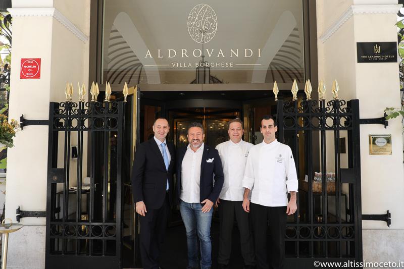 Hotel Aldrovandi Villa Borghese e Ristorante Assaje - Roma - GM Francesco Mussinelli, Executive Chef Andrea Migliaccio, Resident Chef Claudio Mengoni