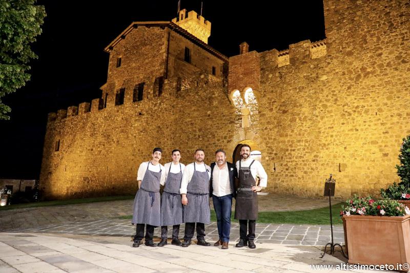 Ristorante Sala dei Grappoli di Castello Banfi Il Borgo - Montalcino (SI) - Executive Chef Domenico Francone