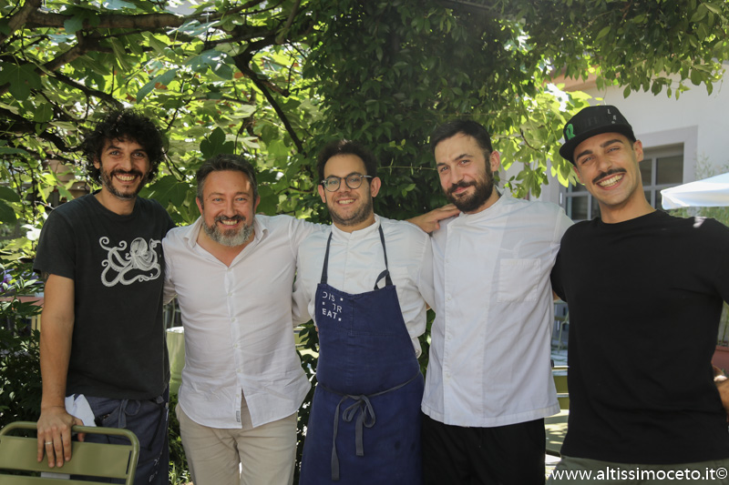 Distreat - Milano - Chef/Patron Andrea Tirelli, Federico Sordo, Gabriel Urgese, Patron Guido Dossena, Davide Aru